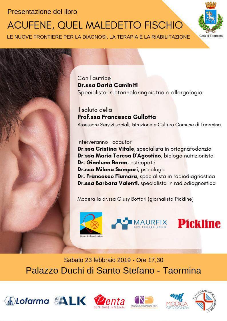 Locandina presentazione libro Acufene