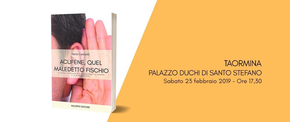 Presentazione libro Acufene quel maledetto fischio a Taormina